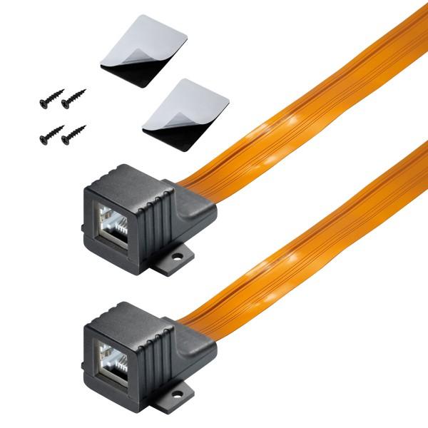 arli fensterdurchführung lan rj45 rj 45 kabel ultra ultraflach ultraslim slim flach flachkabel netzwerk netzwerkkabel patch patckabel balkon fenster tür durchführung dünnes schrauben klebepad ethernet klebe 25 cm 0,25 m 25cm 0,25m