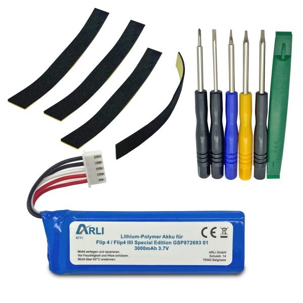 Akku für JBL Flip 4 / Flip4 IIII Special Edition GSP872693 01 Batterie 3000 mAh 3,7 V