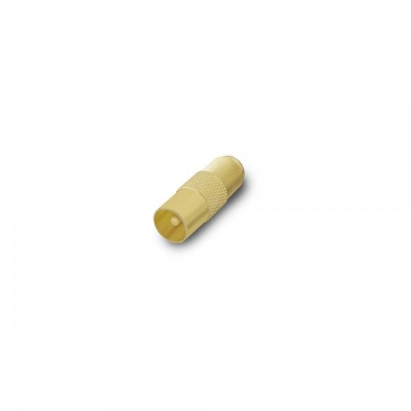 ARLI Adapter IEC - Antennenstecker vergoldet 9,5 mm auf F-Kupplung -100er Beutel
