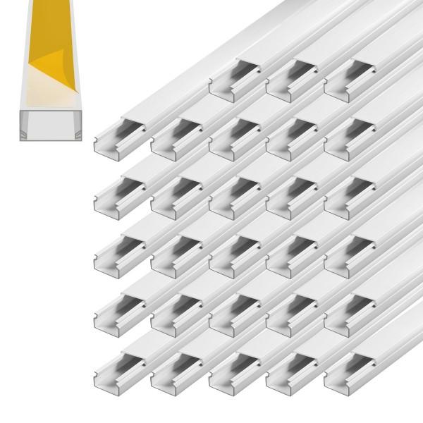 ARLI Kabelkanal selbstklebend 15 x 10 mm - 30m Installationskanal selbstklebend TV Bodenlochung weiss weiß grau Wandmontage Deckenmontage kabel kanal kabelkanal elektroinstallation leiste 10x15mm 16x16mm 25x25mm 40x25mm schraubbar PVC Elektro Kanal 30x20m
