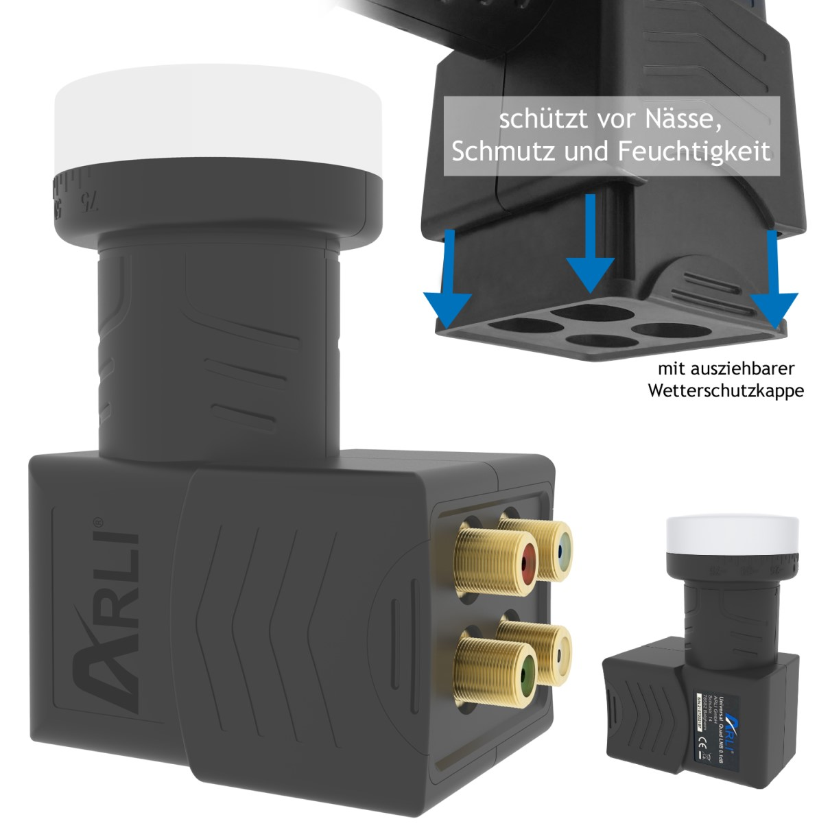 arli satellitensch ssel digital komplett lnb quad 4 teilnehmen 4 fach 4fach lmb single twin. Black Bedroom Furniture Sets. Home Design Ideas