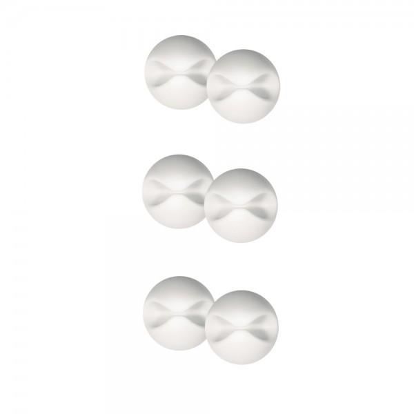 Kabelhalter-Halteclip-Kabel-selbstklebend-Büro-Weiss-Schwarz-ARLI