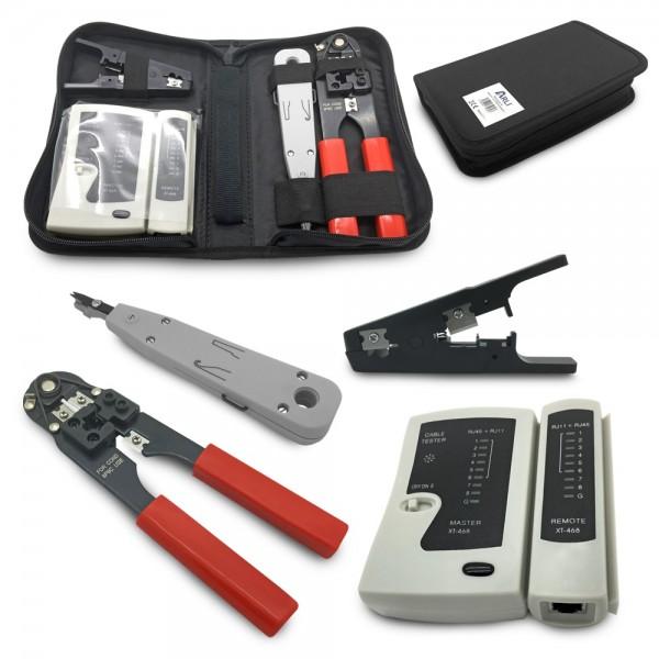 ARLI Werkzeug Set 4 in 1 für Netzwerk und Telefoninstallation