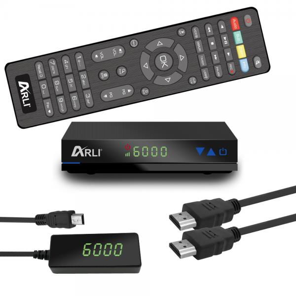 ARLI HD Sat Receiver AH1 Digital HDTV Satelliten DVB-S2 HDMI Astra Hotbird Türksat Kanalliste