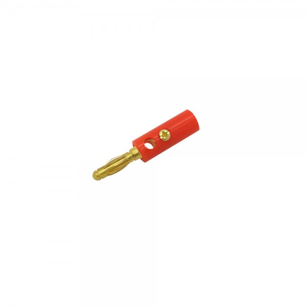 ARLI Bananenstecker vergoldet bis 4 mm rot