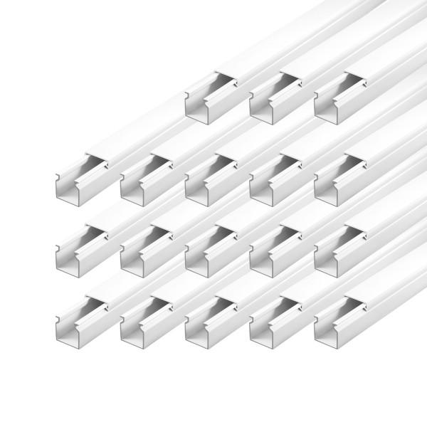 ARLI Kabelkanal 16 x 16 mm - 15m Installationskanal selbstklebend TV Bodenlochung weiss weiß grau Wandmontage Deckenmontage kabel kanal kabelkanal elektroinstallation leiste 10x15mm 16x16mm 25x25mm 40x25mm schraubbar PVC Elektro Kanal 30x20mm 30x30mm 60x4