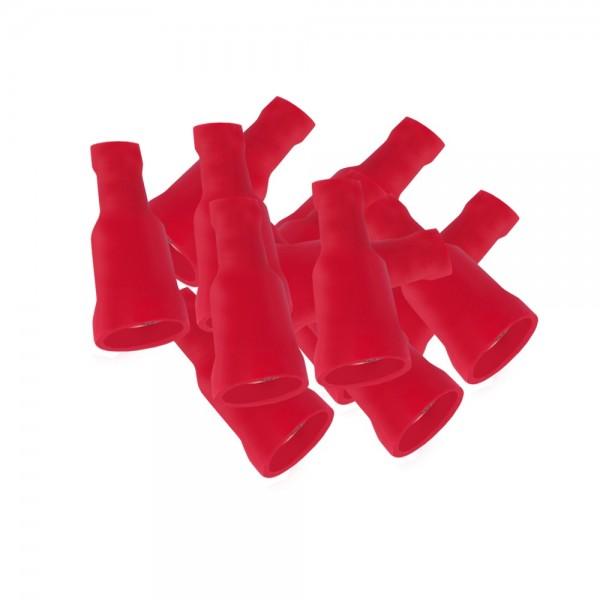 ARLI Flachsteckhülsen 6,3 x 0,8 mm vollisoliert 0,5 - 1,5 mm² rot - 100 er Beutel