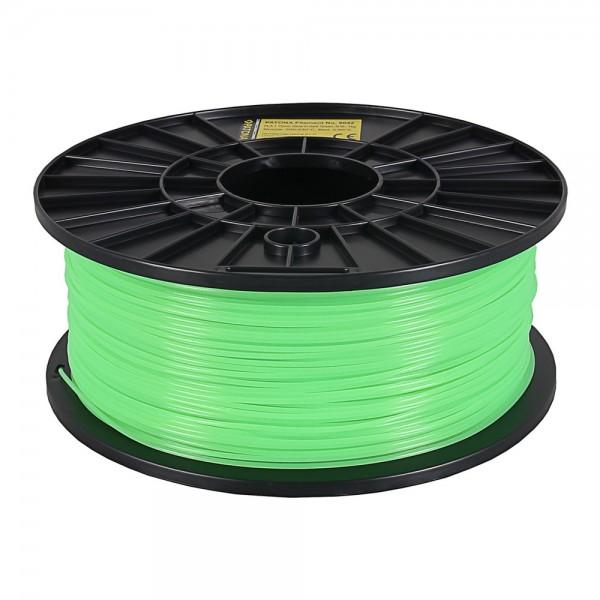 3D Drucker Filament 1 kg Rolle grün fluoreszierendes PLA 1,75 mm