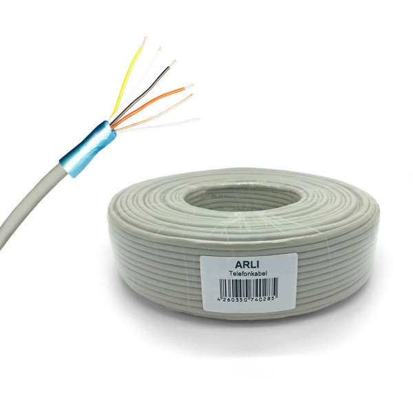 Telefonkabel Kabel ISDN Verlegekabel 2x2 4x2 0,6 mm Telefonleitung Telefon Kabel 25 50 100m JYSTY Adern J-Y(St)Y Fernmeldekabel