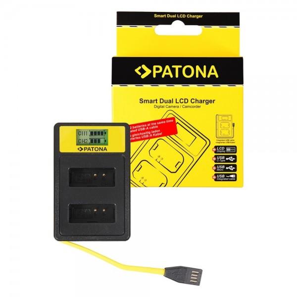 Smart Dual LCD USB Ladegerät für Canon LP-E12 LPE12 EOS M Lade Gerät Lader
