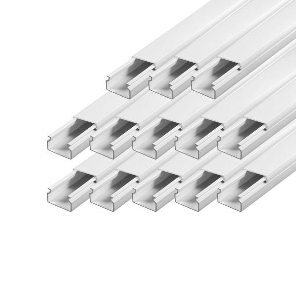 ARLI Kabelkanal 30 x 20 mm - 15m Installationskanal selbstklebend TV Bodenlochung weiss weiß grau Wandmontage Deckenmontage kabel kanal kabelkanal elektroinstallation leiste 10x15mm 16x16mm 25x25mm 40x25mm schraubbar PVC Elektro Kanal 30x20mm 30x30mm 60x4
