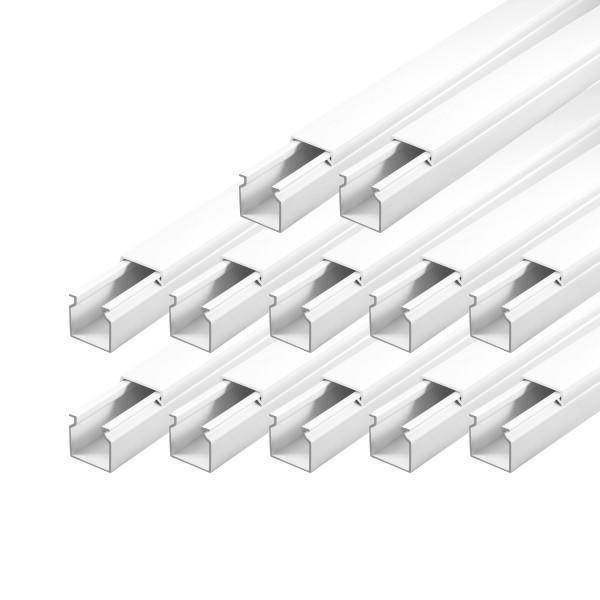 ARLI Kabelkanal 25 x 25 mm - 18m Installationskanal selbstklebend TV Bodenlochung weiss weiß grau Wandmontage Deckenmontage kabel kanal kabelkanal elektroinstallation leiste 10x15mm 16x16mm 25x25mm 40x25mm schraubbar PVC Elektro Kanal 30x20mm 30x30mm 60x4