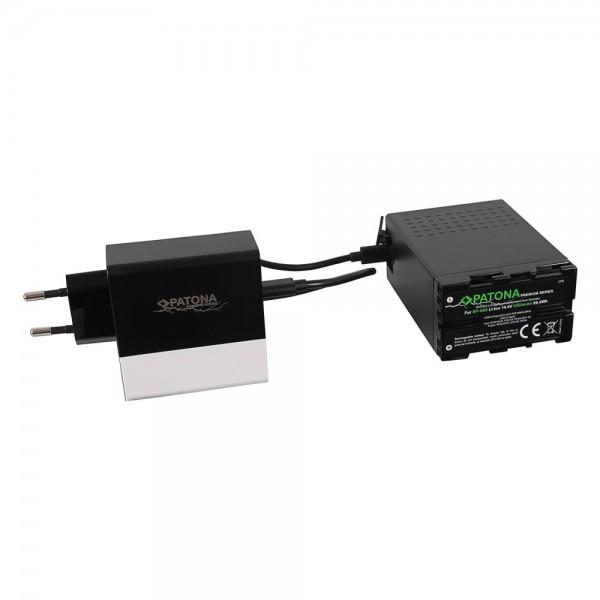 PATONA Akku für Sony BP-U68 BP-U65 BP-U60 6900mAh inkl. D-Tap und USB-Ports mit PD-Ladegerät